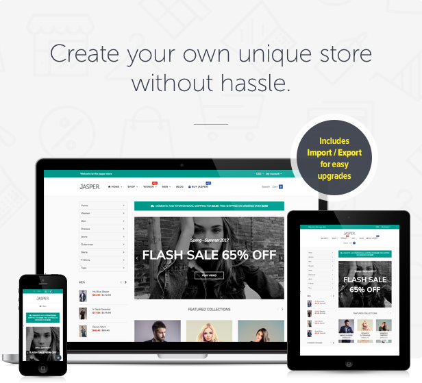 Jasper - Sectioned Drag&Drop Shopify Theme - 5